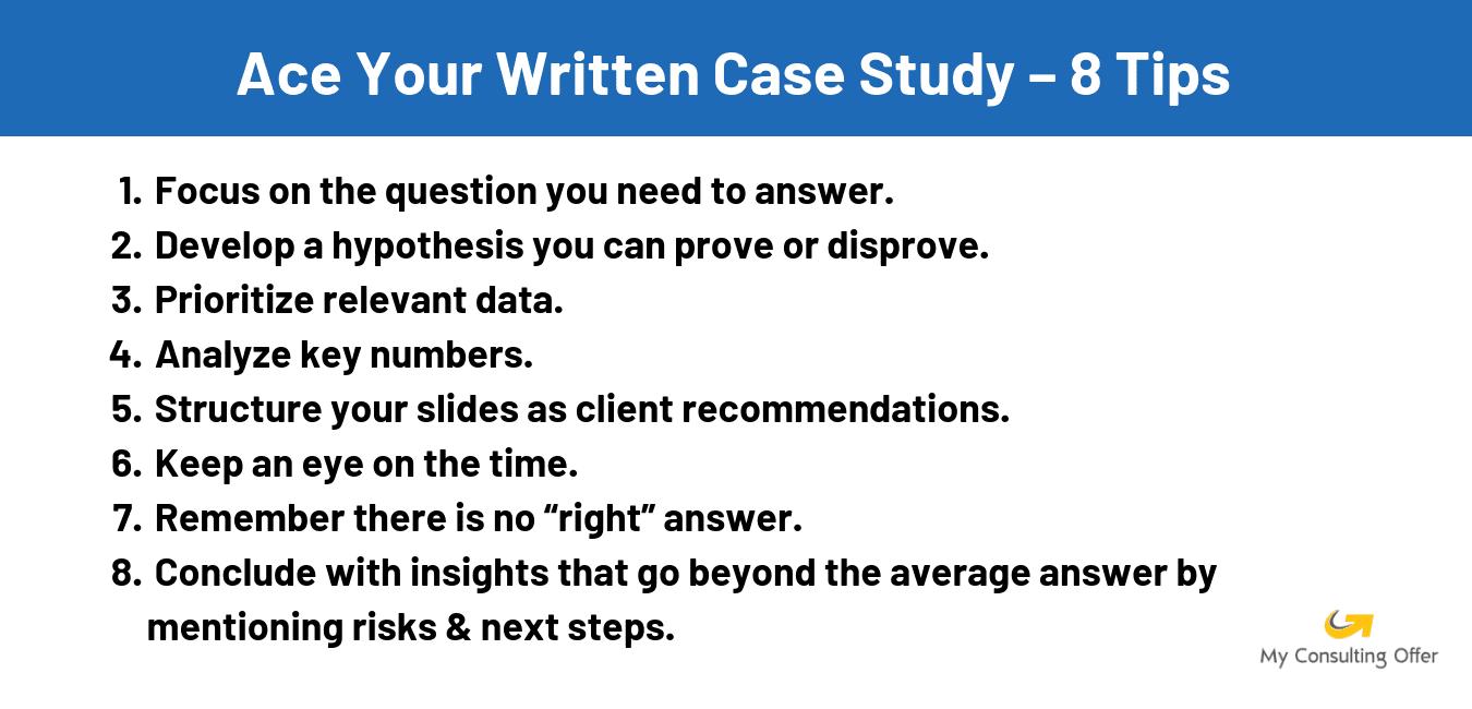 written case study tips
