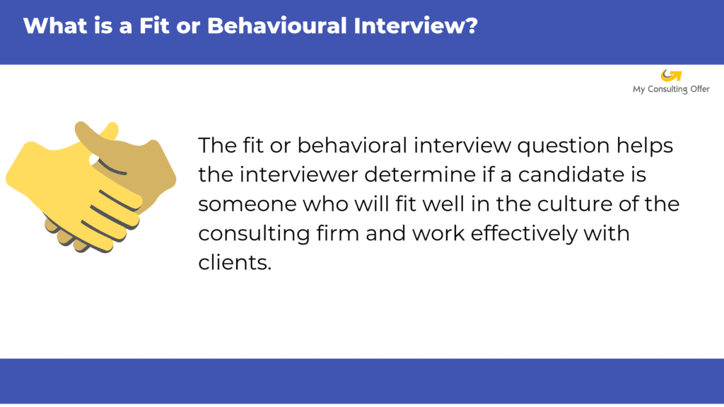 Fit or behavioural interview definition