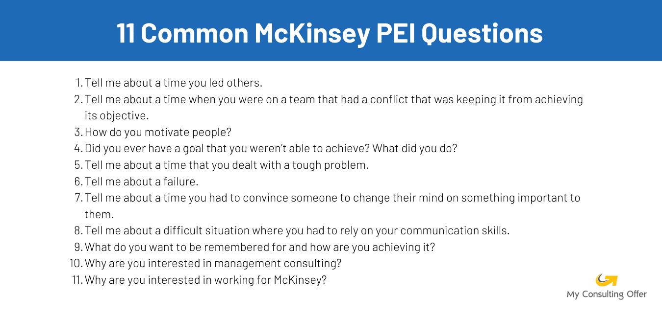McKinsey PEI stories