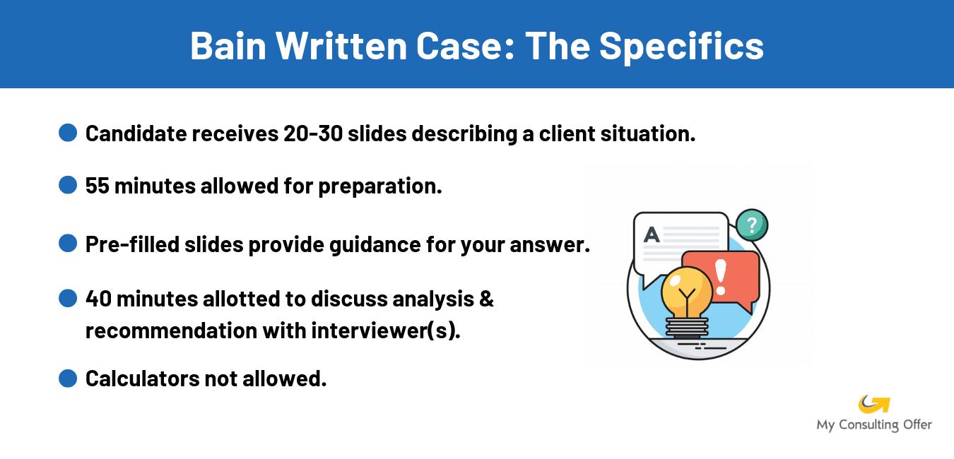 Bain case interview