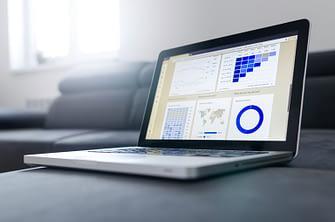 data analysis on a laptop